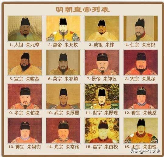 明朝16任皇帝个个都不是一般人