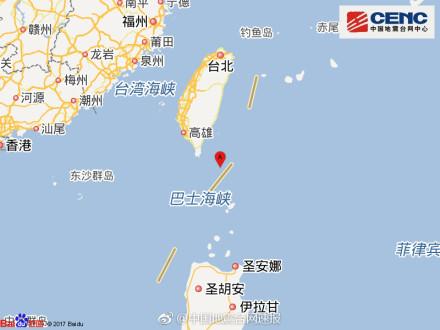 台湾地区附近发生5.3级左右地震|地震|台穿越之大内总管湾|地区